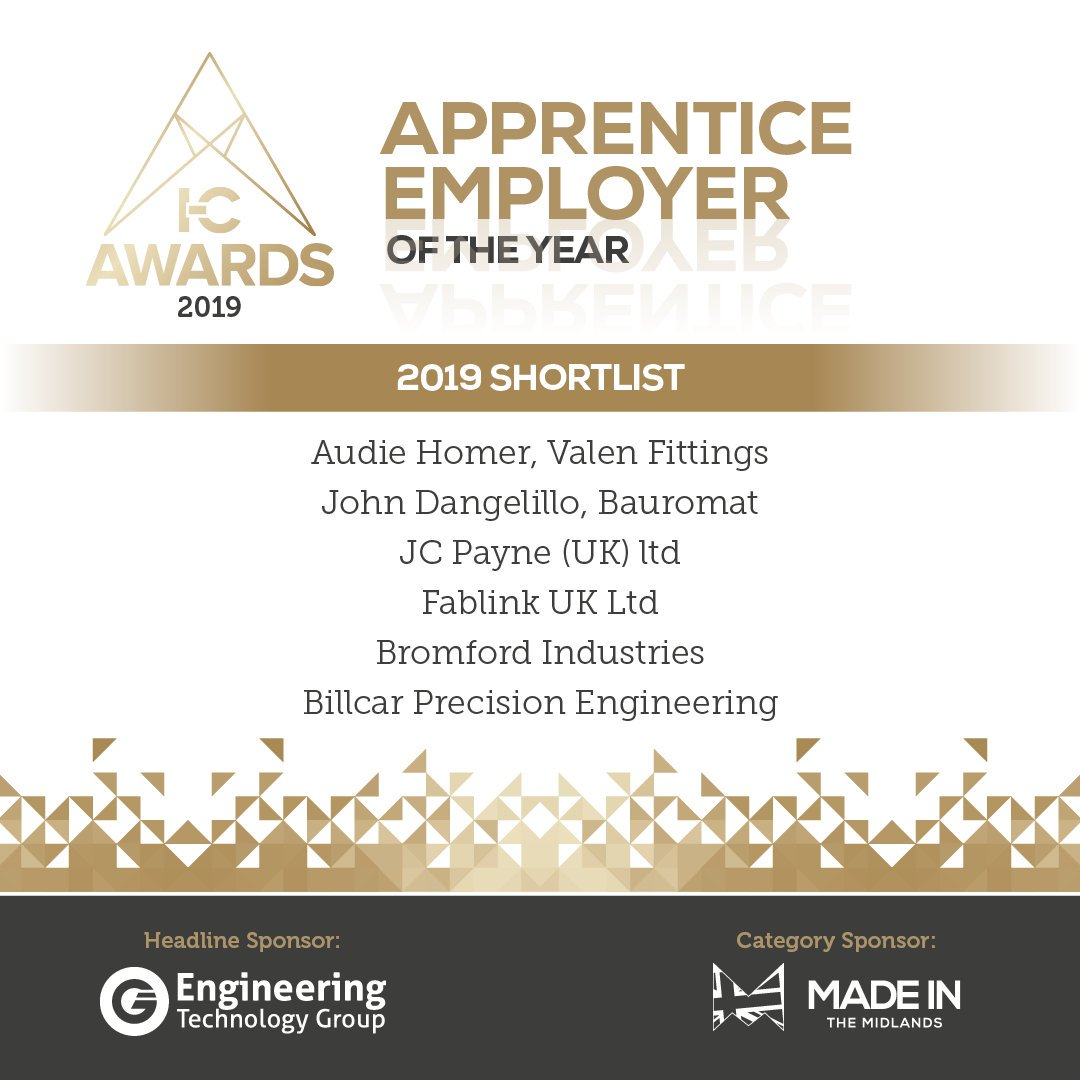 Apprentice Employer of the year Shortlist